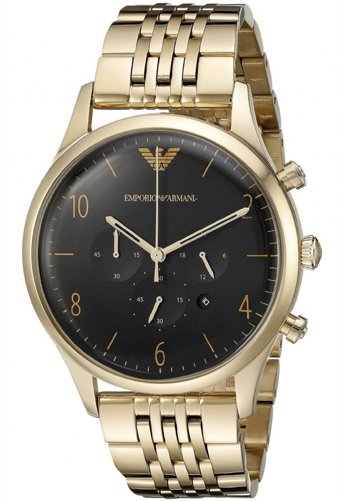 emporio armani beta gold chronograph gents ar1893